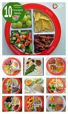 Top 10 Healthy MyPlate Inspired Crockpot Meals - Balanced meals, in a crockpot! http://www.superhealthykids.com/top-10-healthy-myplate-inspired-crockpot-meals/
