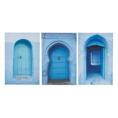 Triptyque bleue 40 x 60 cm MÉDINA