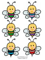Bee & Flower File Folder Game - make colour matching flowers to velcro matching bees onto