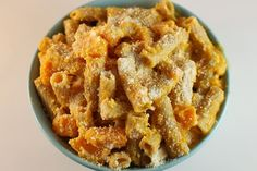 Whole Wheat Pasta with Butternut Squash and Roasted Garlic Sauce
