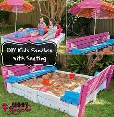 GiddyUpcycled-DIY sandbox