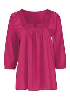 Plus Size Macrame trim blouse