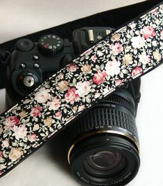Flowers Camera Strap. dSLR Camera Strap. Canon by ChitaDesign, $29.00