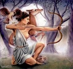 Diana is the Roman Goddess of the moon, as well as of animals, nature, and the hunt. She is the equivalent of the Greek Goddess Artemis, wh. Goddess Tattoo, Moon Goddess, Greek And Roman Mythology, Greek Gods, Artemis, Mythology Tattoos, Pagan Art, A Discovery Of Witches, Sacred Feminine