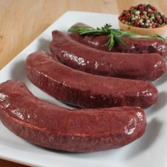 Boudin Noir (Blood Sausage) - 4 Links - 1 x 1 lb Gourmet Food Store, Gourmet Recipes, Gourmet Foods, Boudin Sausage, Specialty Meats, Top Sirloin Steak, Black Pudding, Wagyu Beef, Fruit Puree
