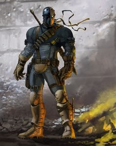"""Deathstroke, One of the coolest DC villains mainly because it has """"Death"""" in the name :)"""