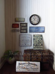 Fabulously Small: Tutorial imaged metal signs. Perfect for all of the vintage signs I want!