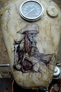 Custom Paint on a Yamaha bobber/chopper