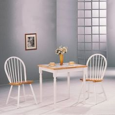 Morrison Square Dining Table with Tile Top in Natural and White