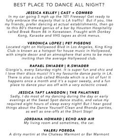 NJAL GUIDE | BEST PLACES TO DANCE ALL NIGHT IN L.A.