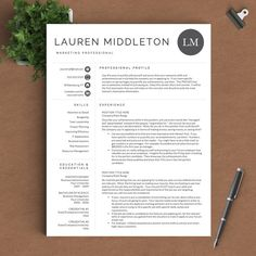 professional resume template for word pages 1 2 and 3 page resume template cover letter ref