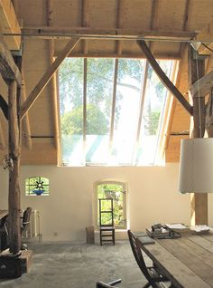 Verbouwing boerderij met gespreide bouwkosten - Bureau Prent Boerderij Verbouwen Barn Renovation, Farmhouse Renovation, Farmhouse Remodel, Farmhouse Interior, Dream House Exterior, Dream House Plans, Barn House Conversion, Old Style House, Interior Architecture