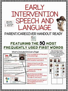 SLP Early Intervention For The First 50 Words Resource - repinned by @PediaStaff – Please Visit ht.ly/63sNt for all our pediatric therapy pins