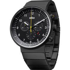 Braun BN0095 Black Prestige Chronograph Men's Watch | Steel