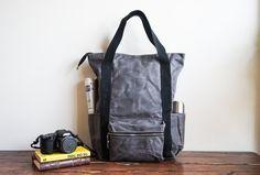 MOOIStudio, Waxed Canvas Backpack
