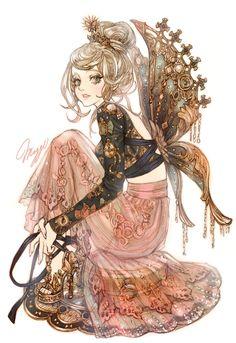 Maggi's Artwork So cute like a teacup Moe Manga, Manga Girl, Manga Anime, Anime Art, Character Inspiration, Character Art, Character Design, Maggi, Anime Kunst