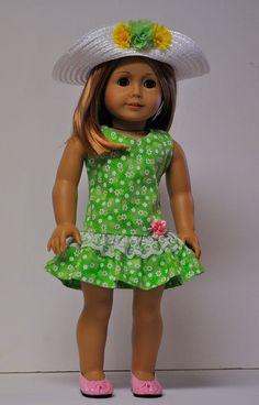 Easter dress fits 18 inch dolls like American by OneGirlsDream
