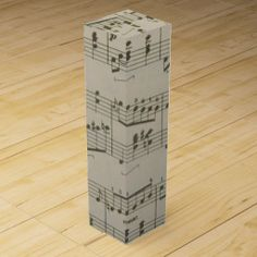 Running Waltz Wine Gift Box #zazzle #winebox #music #notes #waltz