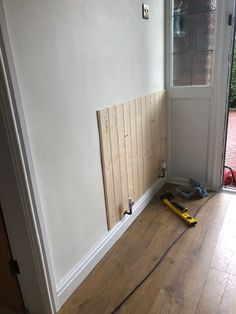 Stair Paneling, Wooden Panelling, Wall Panelling, Tongue And Groove Cladding, Tongue And Groove Panelling, Dining Room Wainscoting, Bathroom Paneling, Wooden Cladding Exterior, Narrow Hallway Decorating