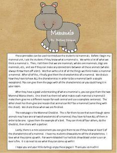 Mammals Mini-Lesson