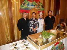 Tradičné sushi v noblesnej Francúzskej reštaurácii v Kúpeľoch Luhačovice v hoteli Alexandria