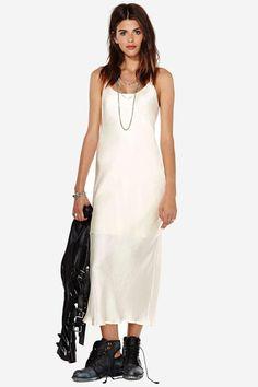 Sexy satin dress