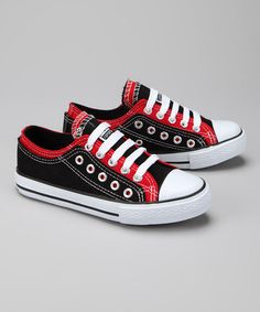 info for 44ce6 e2a63 Take a look at this Black  Red Sneaker by Classically Cool Kids Sneakers