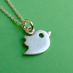 Tiny Flying Bird Necklace in sterling silver Kids by zoozjewelry