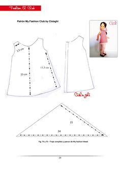 Summer shift and scarf Sewing Doll Clothes, Baby Doll Clothes, Sewing Dolls, Barbie Clothes, Doll Dress Patterns, Doll Sewing Patterns, Clothing Patterns, Crissy Doll, Nancy Doll