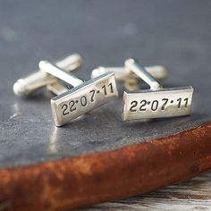personalized cufflinks for the groom      Wedding gift idea for Josh?