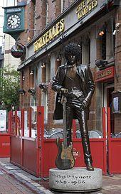 Phil Lynott of Thin Lizzie