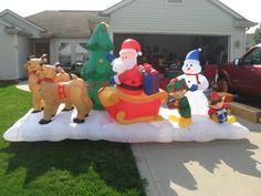 Christmas inflatable lightshow