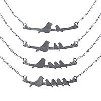 Inspired by moms but made for anyone, these newly redesigned recycled sterling silver necklaces are sweet, simple and bound to become an everyday favorite. Handmade in North Carolina by Rhonda & Elijah Wyman, these darling birds will perch happily on your Mommy Necklace, Kids Necklace, Mother Necklace, Necklace Ideas, Sterling Silver Necklaces, Silver Jewelry, Silver Rings, Mother Rings, Mother Mother