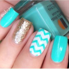 ✨Pastel perfection by @melcisme using our Chevron Nail Vinyls found at…