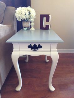Refinished Queen Anne End Table #refurbishedfurniture