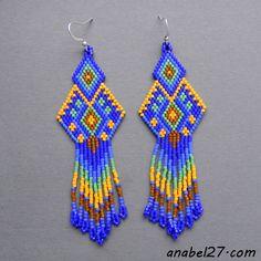 Seed Bead Earrings #beadwork #handmade http://www.anabel27.com/