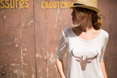 DIY Deer Tee in French