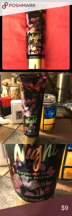😍Victoria's Secret Romantic Night Lotion 😍Victoria's Secret Romantic Night Lotion. 236 ml / 8 fl oz huge tube. Rich lotion for nourishing moisture an Romantic Night scent. Queen of the night tulip and velvet musk. Sensuous smell! Unopened never used Victoria's Secret Makeup