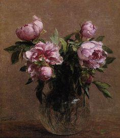 vase of peonies, oil painting,1902 - Henri Fantin-Latour