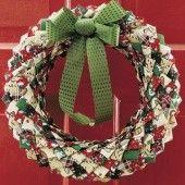 No-Sew Fabric Wreath Craft