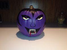 Purple vampire pumpkin that my dad made