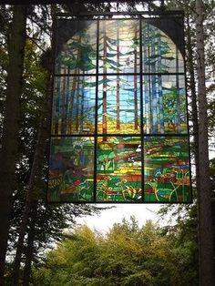 Stained Glass Window, Forest of Dean, UK