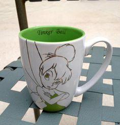 Amazon.com: Disney Tinkerbell White and Green Mug: Everything Else