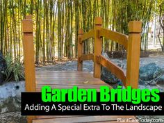 Garden Bridges: A Footbridge Adds A Little Special Extra To The Landscape - Garden Art, Home And Garden, Wooden Garden, Outdoor Life, Garden Bridge, The Great Outdoors, Container Gardening, Patio Ideas, Backyard Ideas