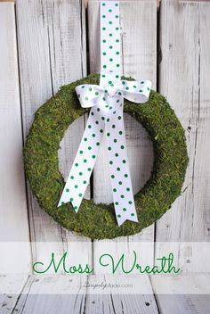 Moss Wreath for Spring or Anytime- Just Us Four Blog