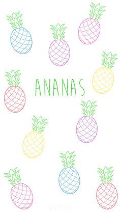Fond d 39 cran ananas tumblr pinterest for Fond ecran ananas