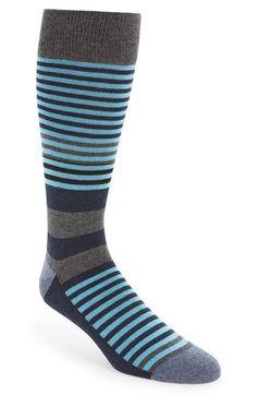 Men's Calibrate Stripe Socks - Grey (3 for $30)