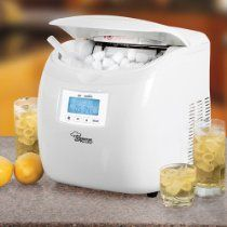 Portable Ice Maker // Description Never run out of ice again! Savoureux Pro Line™ ice maker keeps the party going by making ice in as little as 6 minutes! The perfect solution for holiday entertaining, graduation parties, bridal showers and more, this portable ice maker eliminates those annoying trips to the store to get ice. It makes cubes in as little as 6 minutes and pumps out up to 26 pounds// read more >>> http://Montero832.iigogogo.tk/detail3.php?a=B00HWMTR1M