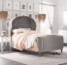 RH TEEN's Versailles Upholstered Bed:À la française. Classic 18th-century Louis…