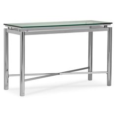 Accent and Occasional Furniture - Nova Sofa Table - Silver